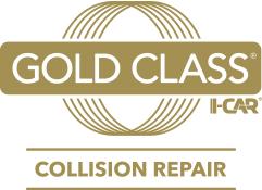 Gold Class I-Car Collision Repair, Logo